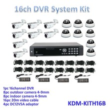Competitive Price ! day night vision cameras kit, all in one kits! 960H 16ch HD dvr, digital security camera kits