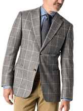 The executive wool grid 2 button fashion tailor-made men suits