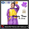 100% Polyester with PVC coated fashion raincoat for girls