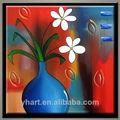hecho a mano pop moderno con textura sepcial flor decoración de la pared arte de la pintura