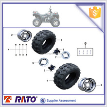 2015 high quality ITALIKA ATV250 parts motorcycle of front wheel tire and front wheel.