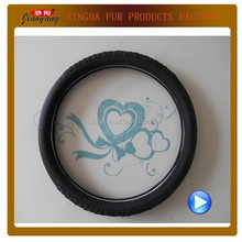 Hot sale high quality car accessories real leather emboss steering wheel covers