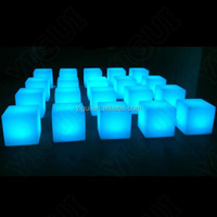 hot sale outdoor illuminated club led bar chairs/multiple color waterproof club led bar chairs