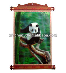 Best Promotional PET 3D Chinese Art Wall Hang Picture Panda