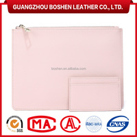 100% Genuine Leather Mini Coin Purse Envelope Clutch Bag