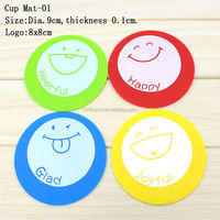 Hot Selling Colorful Rubber Silicone Cute Cup Mat Dish Cup Holders Hot Dish Mat