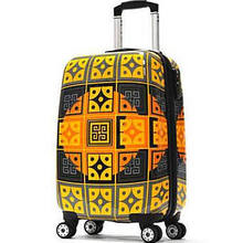 "Trolley New Age Art Series 21"" Hardsided Carry-On Spinner Suitcase Color: Fusion Gold by Olympia"