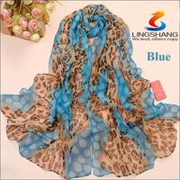 Leapord personality leopard print leopard pattern scarf sunscreen large square chiffon scarf shawl