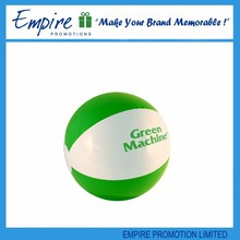 Green and white color customized hot selling beach ball