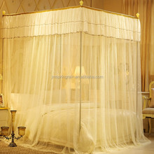 Beige Stainless steel Frame rectangular Palace Mosquito Netting canopy