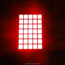 super red p4.75 square led matrix dot display 5x7 dot matrix
