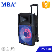 15-inch, Rechargeable Trolly Speaker with1pc Wireless Microphone USB, SD FM, Battery,