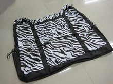 universal car seat cover for rear seat with zebra printing