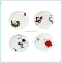 Holiday Scenes Plate Ceramic Christmas Tableware
