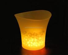 Plastic Party Events Club Bar Used Illuminated LED Ice Bucket/carlsberg beer ice bucket