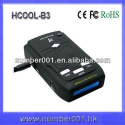 High accuracy anti police radar detector with gps Locator