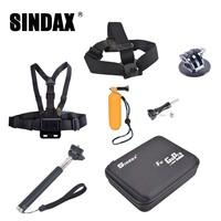 Selfie Stick Monopod +go pro Floaty bobber+Camera Bag+camera head strap for Go pro Camera Accessories