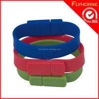 Fashional and Portable Silicone USB Bracelet for promotion