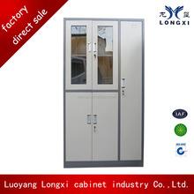 Hospital doctors office file and wardrobe cabinet ,glass door medicine cabinet ,steel 5 door file locker lock