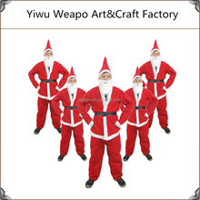 New Arrival High Quality Santa Claus Costume Cheap Christmas Mascot Costume For Men