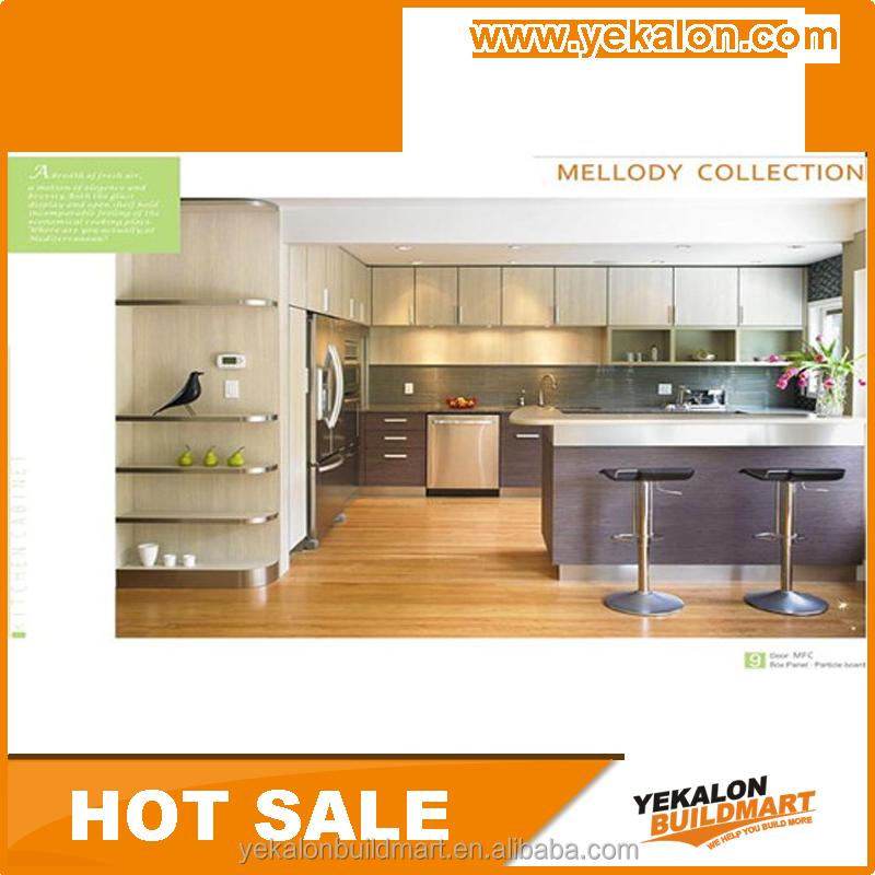 Yekalon 2015 hot sale fiber plastic china kitchen cabinet for Chinese kitchen cabinets for sale