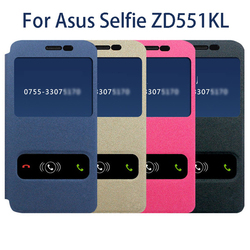 Hot sales Flip Window Universal Leather Case For Asus selfie ZD551KL back cover Made-In-China