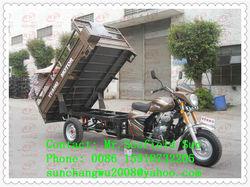 2.2m max cargo box hydraulic cargo tricycle