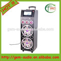 Caliente! Protable 2.0 dual 12 pulgadas subwoofer altavoz karaoke gem-7008