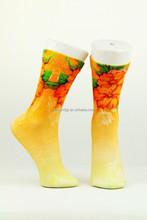 custom made digital printing socks low cut