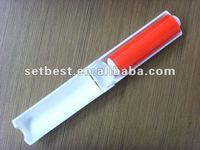 Lint roller with adhesive sticker