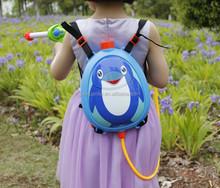 Lovely penguin cartoon animals water gun toys,backpack plastic water gun for kids/child