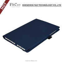 Luxury 10.8 inch anti-shock tablet case for microsoft surface 3,leather stand case cover for surface 3