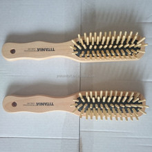 Professional private lable wood black men easy clean hair brush