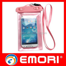2015 Hot Sales 100% Seal PVC phone waterproof pouch for iPhone 6 Plus