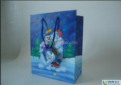 2015 years hot sale custom printed art paper bag for Christmas gift