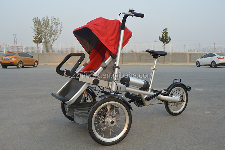 High end electric 2 in 1 folding baby tricycle stroller Motorized baby stroller