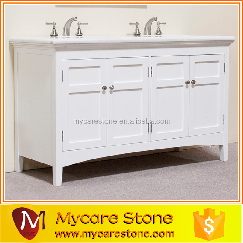 Wholesale cheap price double sink cultured marble bathroom for Bathroom vanity tops for sale