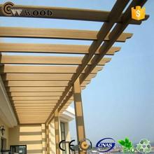 Wood wpc metal wood pergola