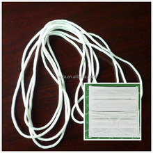 Factory supply flat round ear loop, elastic band for disposable non-woven fabric high bacterium filtration surgical face mask