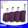 Alibaba China new baggage high quality fabric luggage set 2 wheels fashion travel bag set 4