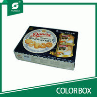 FOOD GRADE ENVIRONMENTAL PAPER COLOR BOX FOR PACKING SUSHI WITH GLOSSY LAMINATED