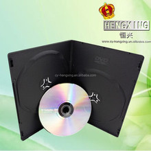 PP 7mm Double long Plastic Black dvd case with Matte sleeve