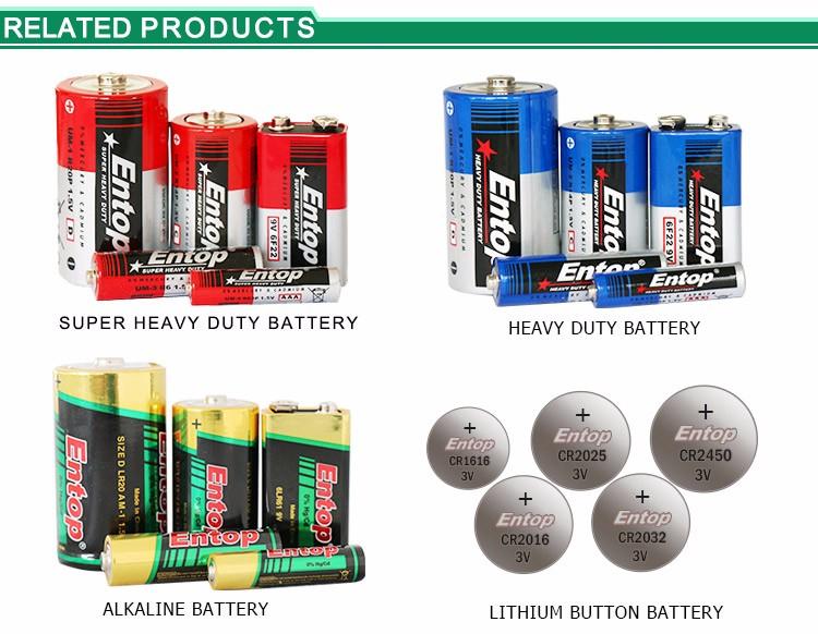 에코 Frindly 휴대용 LR20 1.5 볼트 D 엑셀 알카라인 배터리