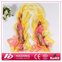 MOQ is 12pcs!2015 Newest Design Multicolor Printed scarf Chiffon neckerchief