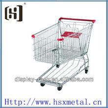 alambre de cromo móviles, carritos de hierro / carretilla de las compras de alambre / EE.UU. carro de supermercado HSX-S512