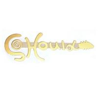 Metal Golden 0.05mm thickness logo label sticker
