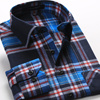 2015 Hot new product for alibaba fashionable uk style microfiber flannel plaid long sleeve latest man shirt designs for men
