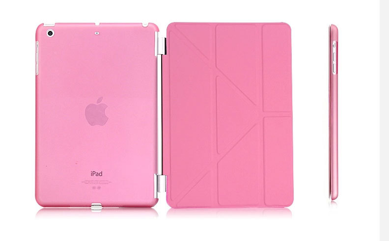 For iPad Air Smart Case Transformer Folding Cross Pattern Cover Case For iPad 5 W/ PU Leather