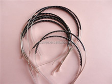 simple metal headband with rubber tooth, cheap hair accessories