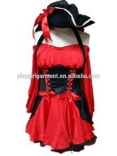 Adultos fiesta de disfraces vestido de la mujer pirata disfraces plwc- 1017